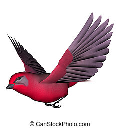 Songbird Tanager - 3d digital render of a songbird tanager...