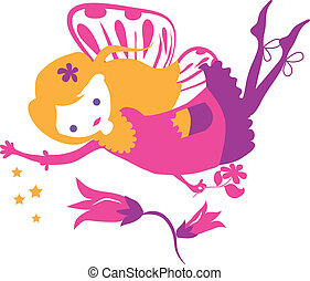 Fairy Little Girl Silhouette - Fairy little girl silhouette...