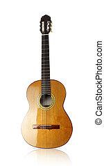 bonito, acústico, Guitarra