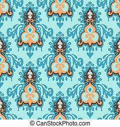 Damask vector seamless pattern vintage