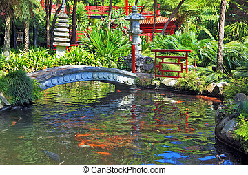In the depths of the park is visible Chinese gazebo - Lovely...
