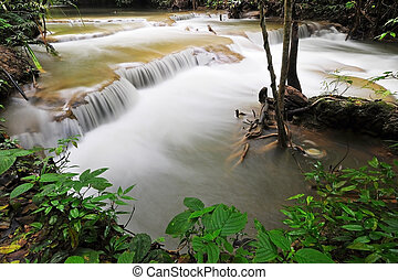 Huay Mae Khamin Waterfall - Waterfall in Thai National Park,...