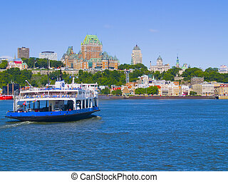 Quebec City Skyline - The skyline of Quebec City, Canada,...