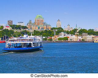 Quebec City Skyline - The skyline of Quebec City, Canada,...