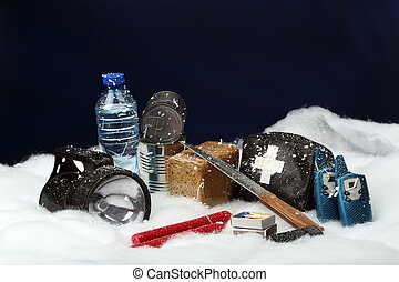 emergency - Items for emergency in snow storm