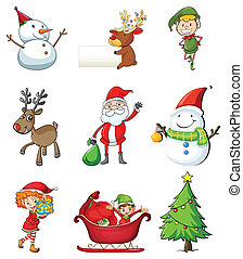 Christmas symbols - Illustration of the christmas symbols on...