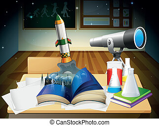 A science laboratory - Illustration of a science laboratory