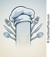 Kitchen utensils for cooking fork knife spoon and cap