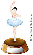 A ballet dancer trophy with an empty template