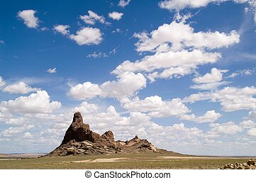 New Mexico Landscape - Beautiful clouds- and landscape with...