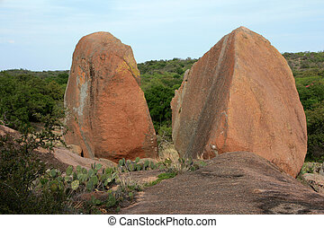 Close-up of Boulders at Enchanted Rock Park - Close-up of...