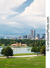 Storm Clouds Over Denver - Skyline of Denver, Colorado...