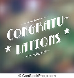 Congratulations Typography Background - illustration of...