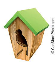 birdhouse isolated on white background 10 EPS