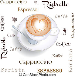 Background cappuccino - Bar, drink, caffeine, cappuccino,...