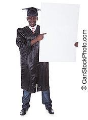 Graduation Man With Bill Board