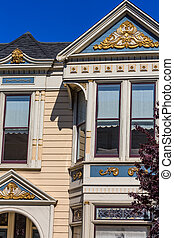 San Francisco Victorian houses near Alamo Square California...
