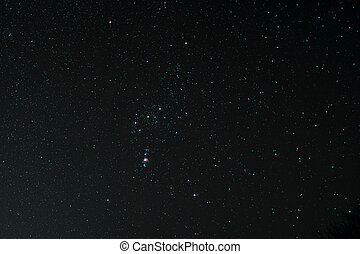 Starfield with Orion and Orion Nebula - Astro Photo:...