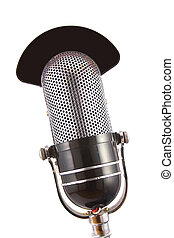 Retro Microphone - Retro microphone used for radio, talk...