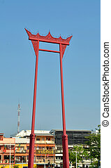 The Giant Swing quot;Sao Ching Chaquot; in Bangkok, Thailand...