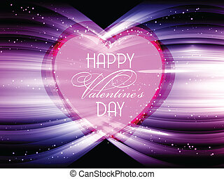 Valentine's day background - Abstract heart design for...