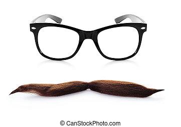 caballero, tipo,  hipster, o