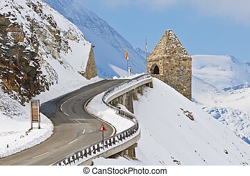 Monument in the Grossglockner, Austria - Monument in the...