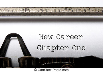 New career  - New career, new start concept
