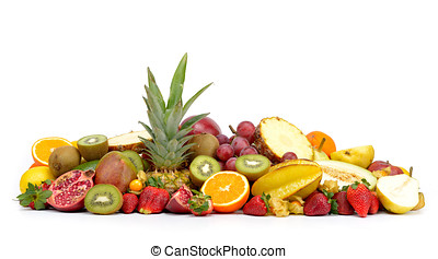 fresh tropical fruits