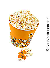 Popcorn bucket and tickets - Popcorn bucket with two tickets...