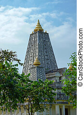 Mock location Mahabodhi temple, bodh gaya In Thailand