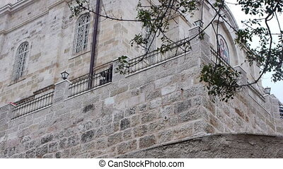Facade view of Russian Orthodox Gorney convent in Ein Kerem...