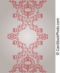 Vintage background. Vector. victorian red ornament