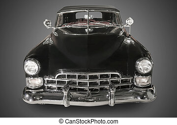 ancient black car - beautiful ancient black car against dark...
