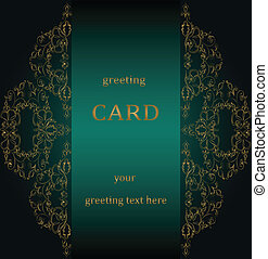 Vintage greeting cards in Victorian style. Vector
