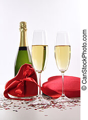 Champagne, chocolates, Valentine's, Day