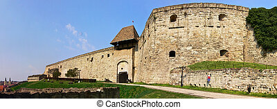 Eger castle panorama 1 - Border fortress with historical...