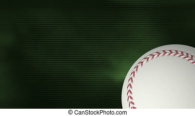 Baseball on Green soft flowing Looping Animated Background