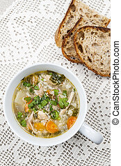 Cup of chicken soup