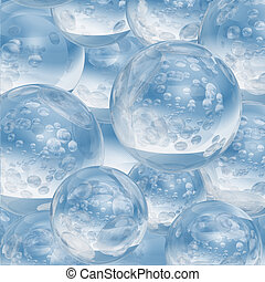 Abstract frozen water ball