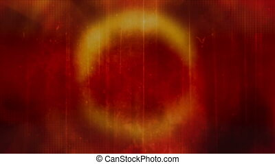 Red Orange Ring Grunge loop