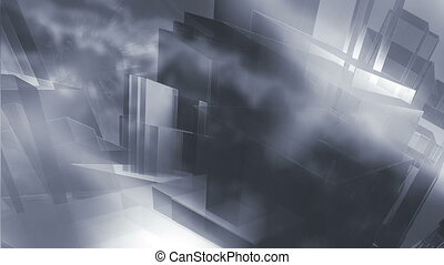 Sci-Fi Abstract City Loop - Future Sci-Fi Abstract City...