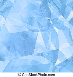résumé, glace, géométrique, fond
