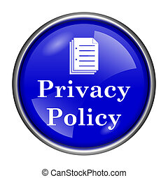 Privacy policy icon - Round glossy icon with white design ...
