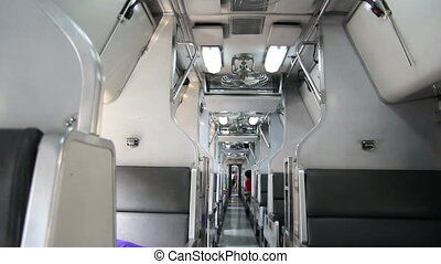 Interior of public train - Interior of train public...
