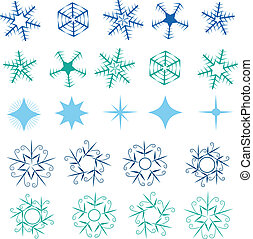 Snowflakes and stars collection