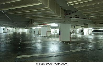 Underground Carpark Interior - Interior of modern...