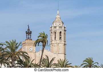 Sant Bartomeu i Santa Tecla church at Sitges, Spain