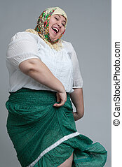 grasa, mujer
