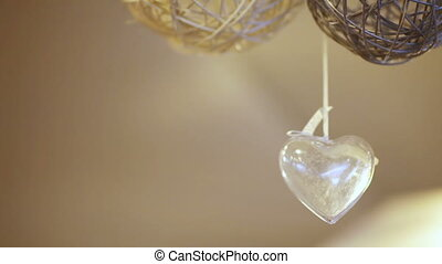 Hanging heart - Hanging under ceiling transparent heart